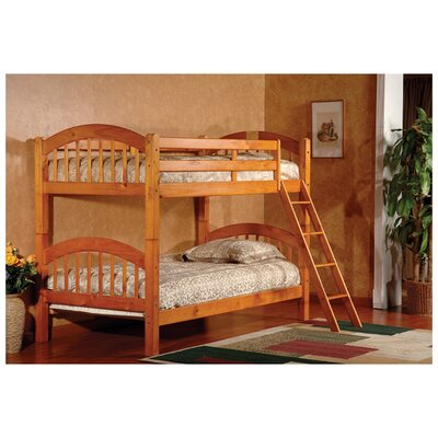 Cassidy Arched Twin Bunk Bed Finish: Honey Oak