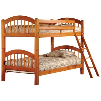 Cassidy Arched Twin over Twin Bunk Bed Color: Honey Oak