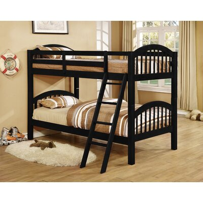 Cassidy Arched Twin Bunk Bed Finish: Black
