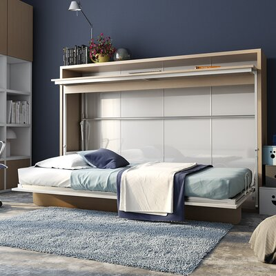 Patty Twin Murphy Bed Color: Pine