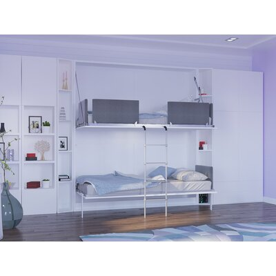 Butcombe Twin Murphy Bed Upholstery: Gloss White