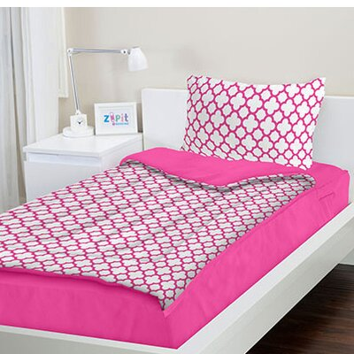 Percy Pink Reversible Bed-In-A-Bag Set Size: Twin