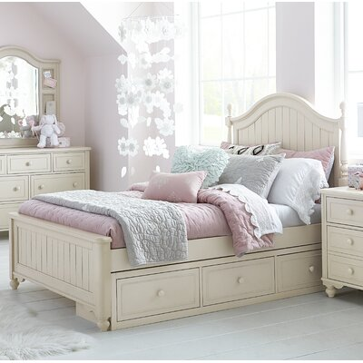 Otto Low Poster Panel Bed with Storage