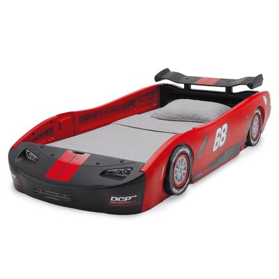 Zion Turbo Twin Car Bed Color: Red