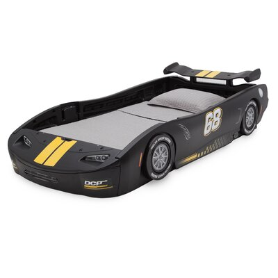 Zion Turbo Race Car Twin Standard Bed Color: Black