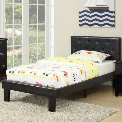 Elvis Twin Platform Bed Color: Black