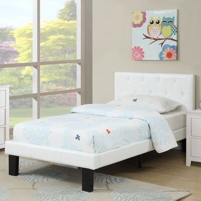 Elvis Twin Platform Bed Color: White