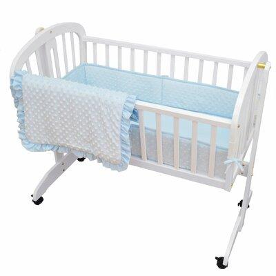 Chaz Heavenly Soft Three Piece Minky Dot Cradle Set VVRE1056 37934160