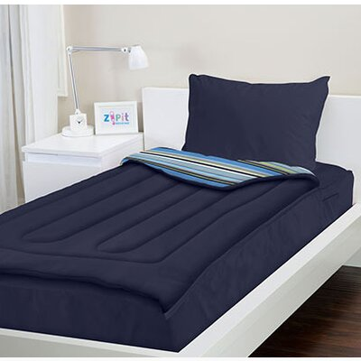 Dylon Navy Blue Reversible Bed-In-A-Bag Set Size: Twin