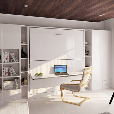 Gerry Twin Over Twin Murphy Bed Color: Gloss White