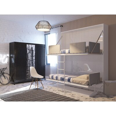 Kirk Twin Murphy Bed Color: Gloss White