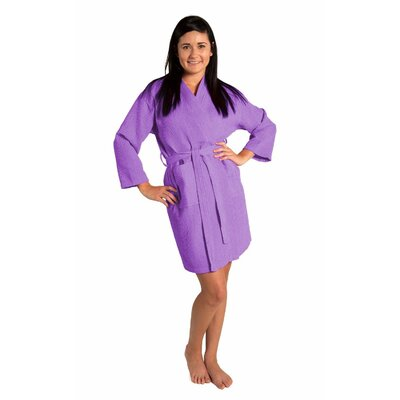 Antwan Waffle Kimono Robe Size: Adult - One Size, Color: Lavender