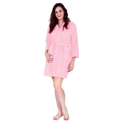 Antwan Waffle Kimono Robe Size: Adult - One Size, Color: Pink
