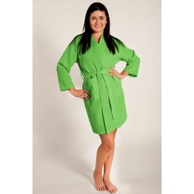 Antwan Waffle Kimono Robe Size: Adult - One Size, Color: Green