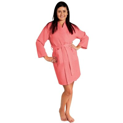 Antwan Waffle Kimono Robe Size: Adult - One Size, Color: Coral