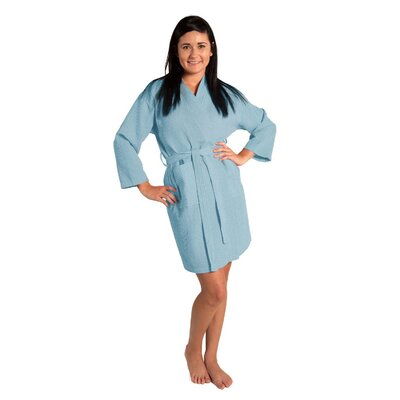Antwan Waffle Kimono Robe Size: Adult - One Size, Color: Light Blue