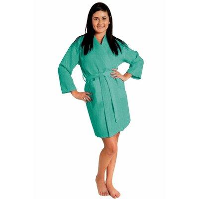 Antwan Waffle Kimono Robe Size: Adult - One Size, Color: Aqua
