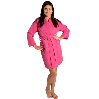 Antwan Waffle Kimono Robe Size: Adult - One Size, Color: Fuchsia