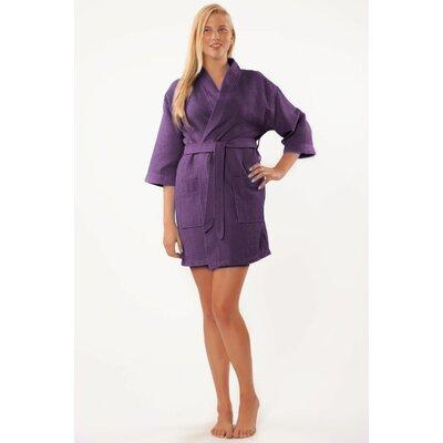Antwan Waffle Kimono Robe Size: Adult - One Size, Color: Purple