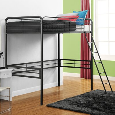Kent Twin Loft Slat Bed Color: Black