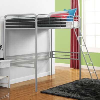 Kent Twin Loft Slat Bed Color: Silver