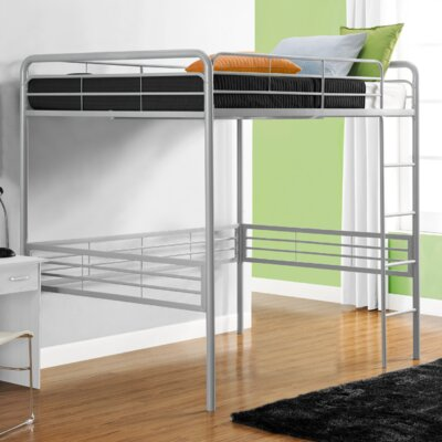 Maximillian Full Loft Bed Color: Silver
