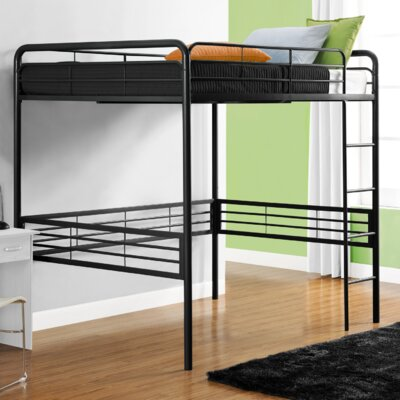 Maximillian Full Loft Bed Color: Black