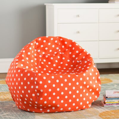 Telly Bean Bag Chair Upholstery: Orange