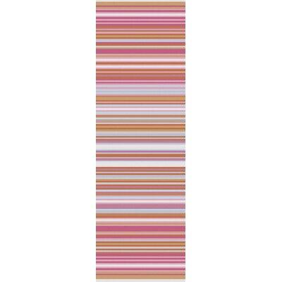 Javonte Hot Pink Area Rug Rug Size: Runner 26 x 8