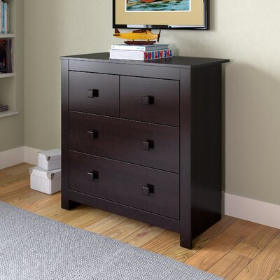 Deion 4 Drawer Dresser Color: Rich Espresso