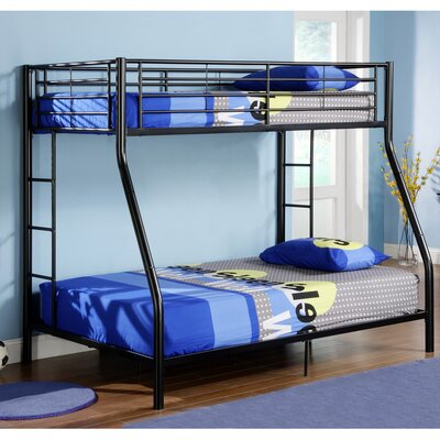 Landen Twin over Full Bunk Bed Color: Black