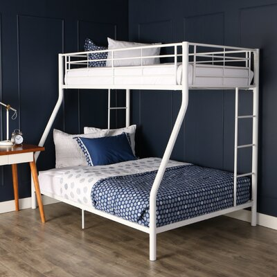 Landen Twin over Full Bunk Bed Finish: White