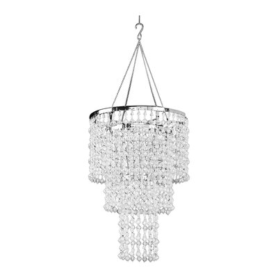 Kordell Triple Crown 1-Light Crystal Pendant Shade Color: Crystal