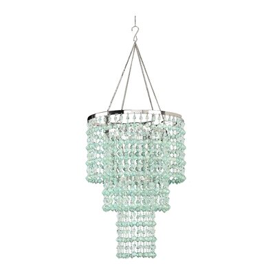 Kordell Triple Crown 1-Light Crystal Pendant Shade Color: Mint Green