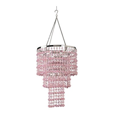 Kordell Triple Crown 1-Light Crystal Pendant Shade Color: Pink