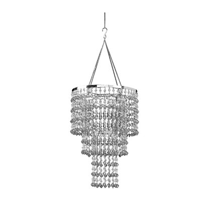 Kordell Triple Crown 1-Light Crystal Pendant Shade Color: Smoke