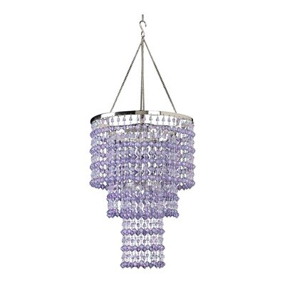 Kordell Triple Crown 1-Light Crystal Pendant Shade Color: Violet