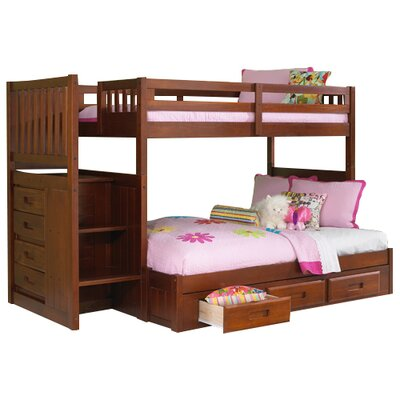 Kaitlyn Twin over Full Bunk Beds Finish: Merlot