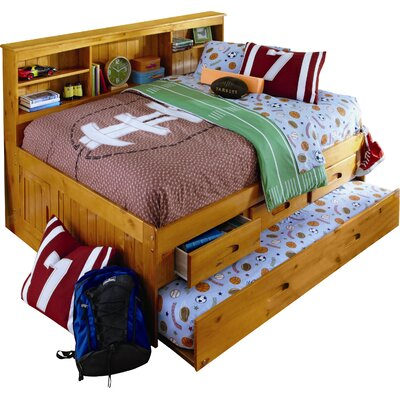 Kaitlyn Daybed with Storage and Trundle Size: Twin, Color: Honey