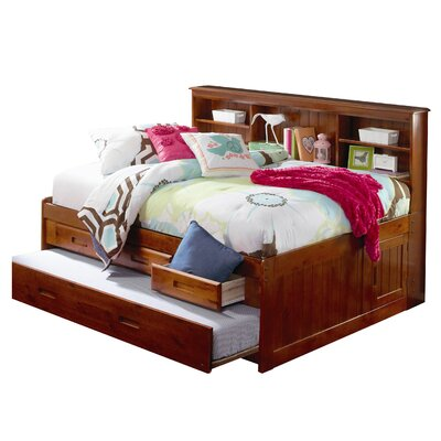 Kaitlyn Daybed with Storage and Trundle Size: Full, Finish: Merlot