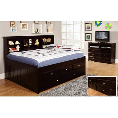 Kaitlyn Mates & Captains Bed with Trundle Size: Twin, Finish: Rich Espresso