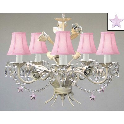 Laurens Cone Shade 5-Light Crystal Chandelier