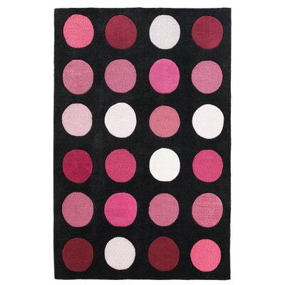 Ronnie Hand-Tufted Pink/Black Area Rug Rug Size: Rectangle 110 x 210