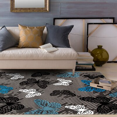 Paxton Gray/Blue Area Rug Rug Size: 710 x 102