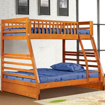 Pierre Twin over Full Bunk Bed Finish: Oak