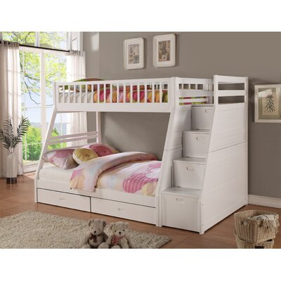 Pierre Twin over Full Bunk Bed with Storage Finish: White