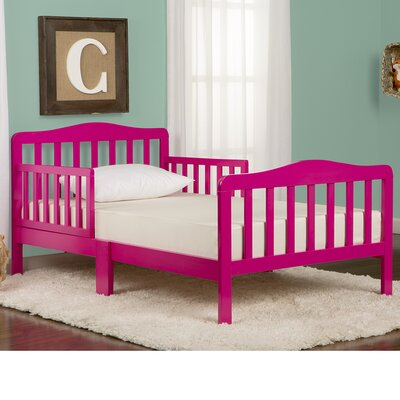 Classic Convertible Toddler Bed Finish: Pink