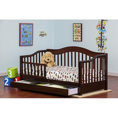 Toddler Bed with Storage Color: Espresso