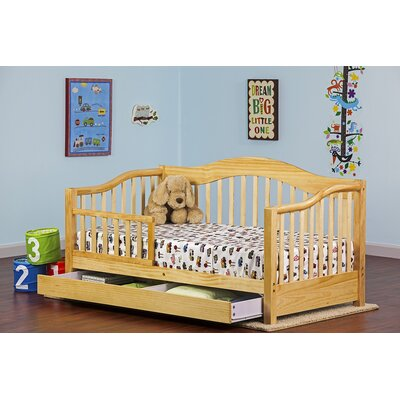 Toddler Bed with Storage Finish: Natural