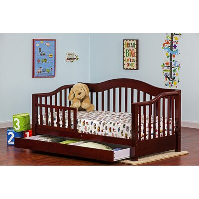 Toddler Bed with Storage Color: Cherry